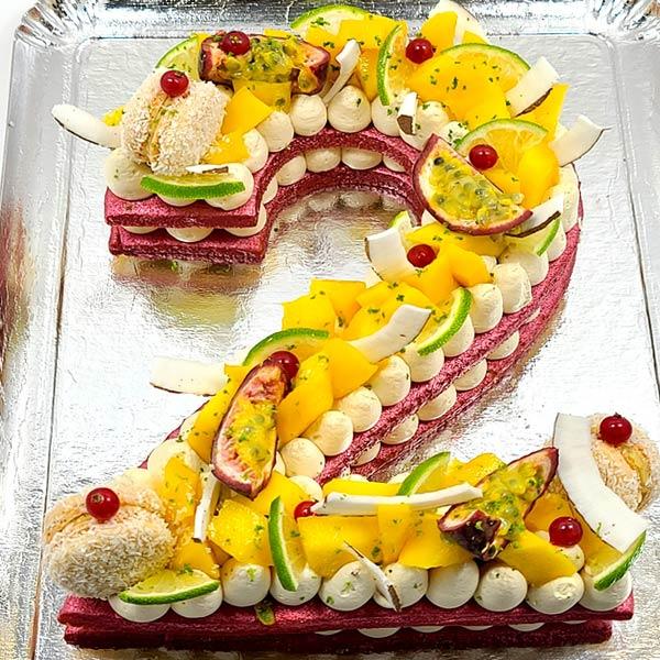Number cakes - Gâteaux d'anniversaire en forme de Chiffres livrés à domicile