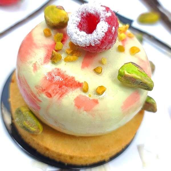 Dessert Individuel Cremeux Pistache Framboise 600
