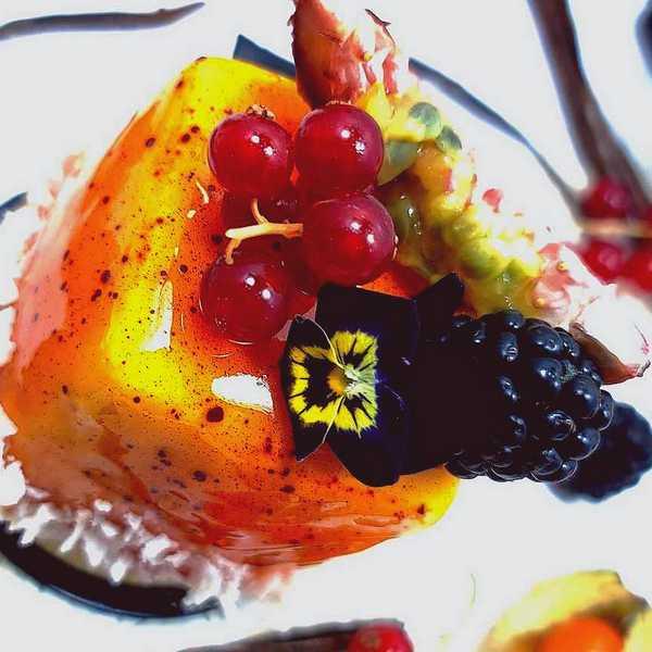 Exotic Coulant Gâteau Fruits Exotiques Chocolat Blanc livré à domicile