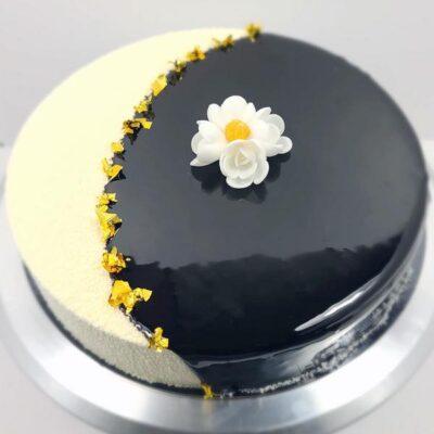Flexi choco-caramel, entremets 10-12 personnes, chocolat et caramel, gâteau d'anniversaire livré à domicile 75 77 92 93 94 95