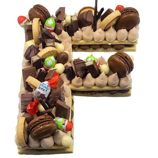 Letter Cake Gâteau en forme de lettre - Letter cake nutella chocolat livraison à domicile