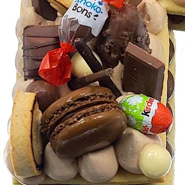 Letter Cake Gâteau en forme de lettres - Letter cake nutella chocolat livraison à domicile