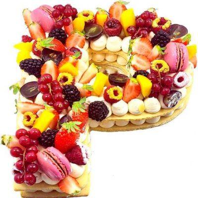 Letter cake aux fruits