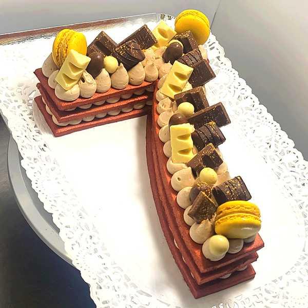 Number Cake Chocolat Nutella - Gâteau d'anniversaire en forme de chiffre