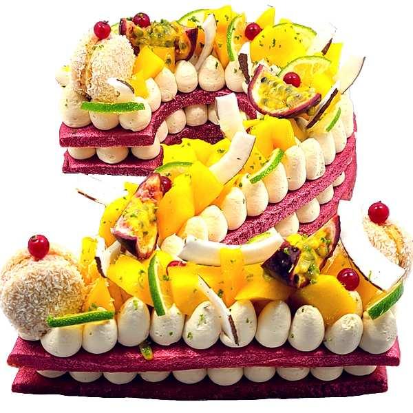 Number cake - Gâteaux d'anniversaire en forme de Chiffres livrés à domicile