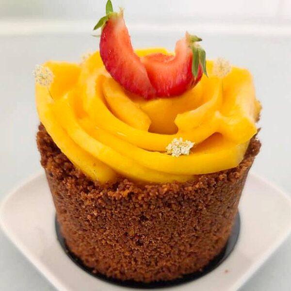 Sensation Mangue, pâtisserie individuelle à la mangue fraîche livrée à domicile