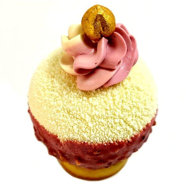 Bulle De Saveur Hibiscus Bissab Coco, pâtisserie individuelle à la fleur d'hibiscus